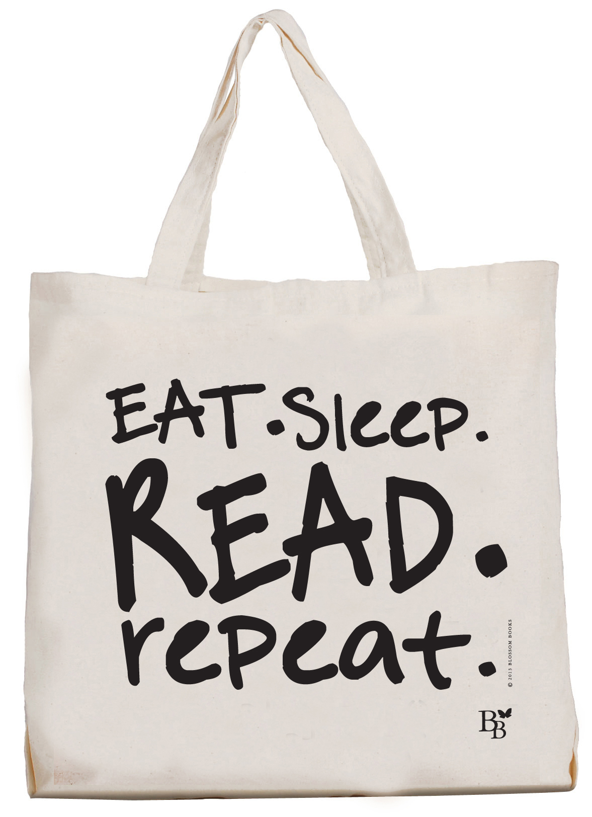 Stoffen Tassen Laten Bedrukken : Blossom bag eat sleep read repeat blossombooks