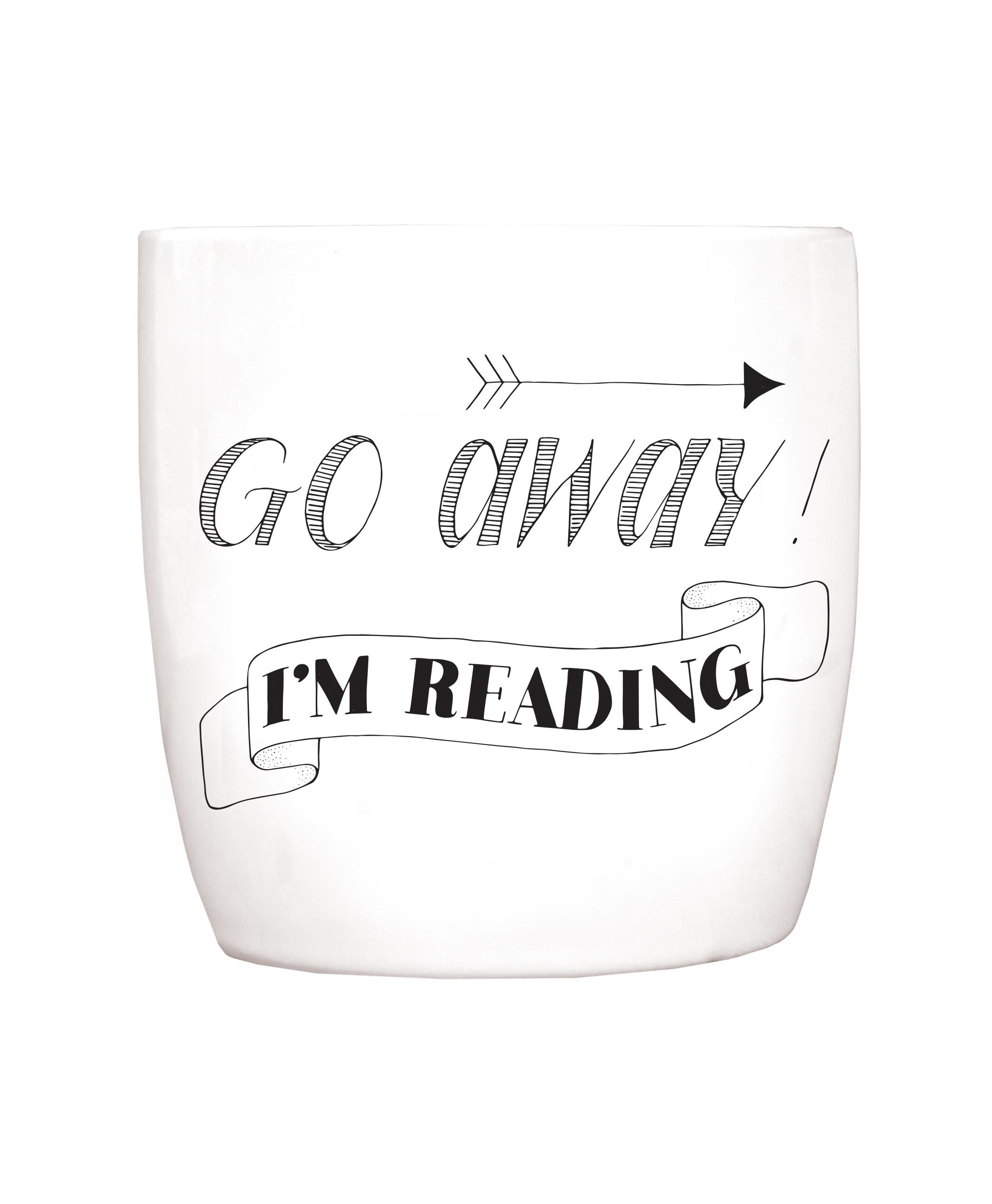 Blossom Mug: Go away, I'm reading