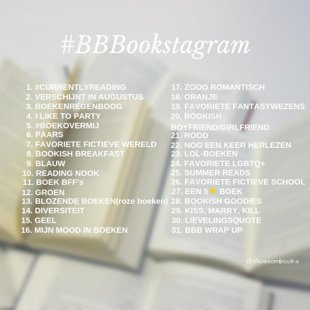 BBBookstagram challenges 2019