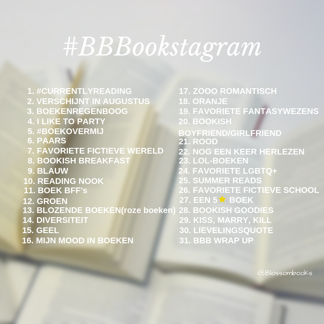 BBBookstagram challenges 2019