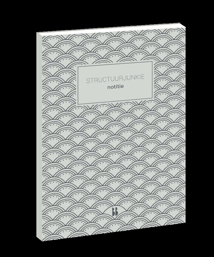 structuurjunkie notitieboek grijs