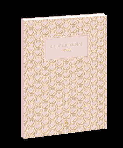 structuurjunkie notitieboek roze
